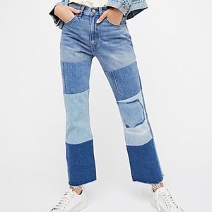 Levi's High Waisted 517 Patchwork Jeans